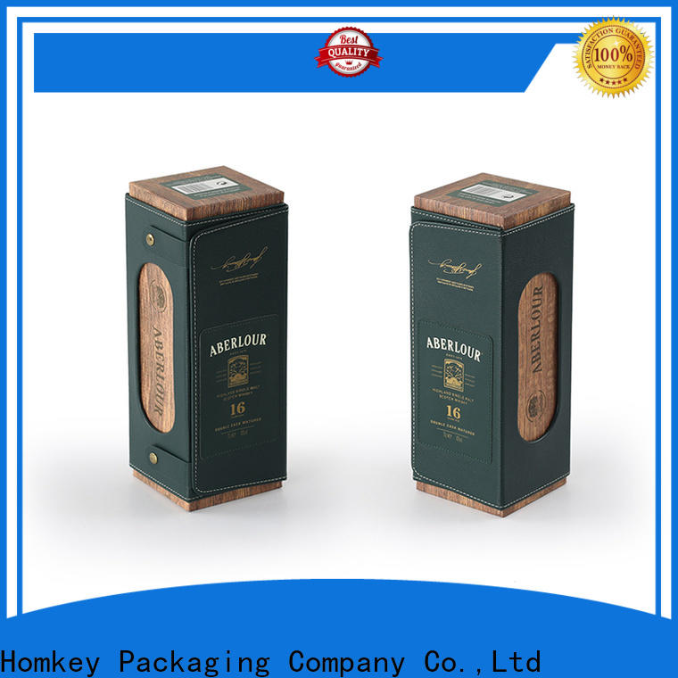 Homkey Packaging package wine bottle gift boxes experts for gift packing