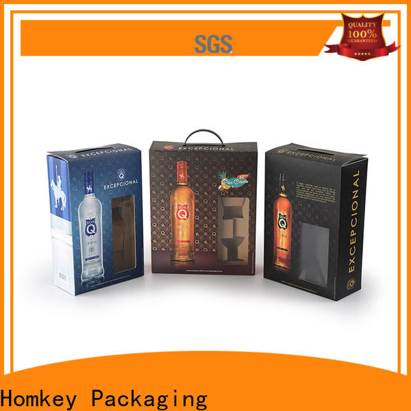 Homkey Packaging package wine bottle packaging factory for wire packing