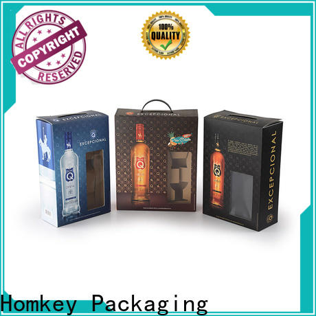 Homkey Packaging wine wine bottle gift boxes long-term-use for wire packing
